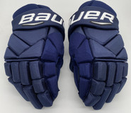 "Bauer Vapor 1X Pro Custom Hockey Gloves 14"" Navy NHL Pro Stock Panthers MCCANN"