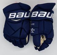 "Bauer Vapor 1X Pro Custom Hockey Gloves 13"" Navy NHL Pro Stock Panthers Malgin"