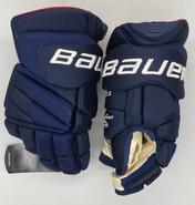 """Bauer Vapor 1X Lite Pro Custom Hockey Gloves 15"""" Navy NHL Pro Stock Panthers Boyle"""
