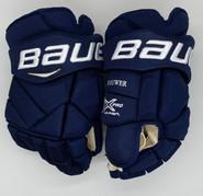 "Bauer Vapor 1X Pro Custom Hockey Gloves 14"" Navy NHL Pro Stock Panthers Brouwer"
