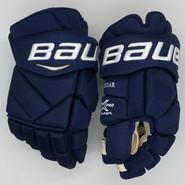 "Bauer Vapor 1X Pro Custom Hockey Gloves 14"" Navy NHL Pro Stock Panthers Weegar"