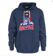 Hartford Junior Wolfpack Pennant Face Off Sport Lace Cotton Hoodie