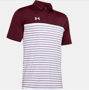 SW High Under Armour Stripe Mix Up Polo Maroon