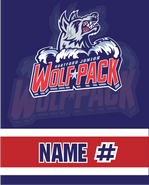 Hartford Junior Wolfpack Sublimated Fleece Sport Stadium Blanket