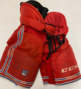 CCM HP45 Custom Pro Stock Hockey Pants Medium New York Rangers NHL Used