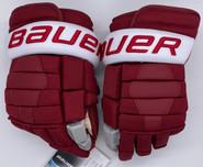 "Bauer Nexus 2N Pro Stock Custom Hockey Gloves 14"" Umass Amherst New"