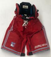 Bauer S195 Custom Pro Stock Hockey Pants MEDIUM New York Rangers NHL Used