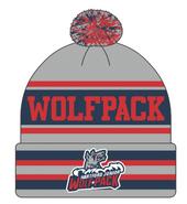 Hartford Junior Wolfpack Pacific Headwear Custom Pom Pom Beanie Toque
