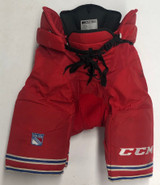 CCM HP45 Pro Stock Hockey Pants Large New York Rangers NHL Used 9