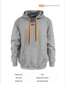 SW Youth Hockey Pennant Face Off Cotton Hoodie Adult Sport Grey