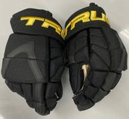 """True XC9 Pro Stock Hockey Gloves 14"""" Canucks Leivo Retro New"""