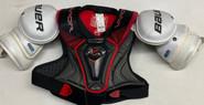 Bauer 1X Lite Pro Sr Shoulder Pads X-Large Pro Stock Used 2