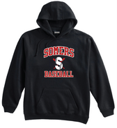 Somers Little League Pennant Super 10 Cotton Hoodie Adult and Youth