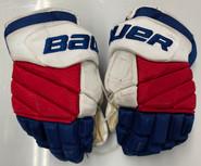 "BAUER VAPOR 1X PRO LITE CUSTOM PRO STOCK HOCKEY GLOVES 14"" NY RANGERS HOWDEN NHL"