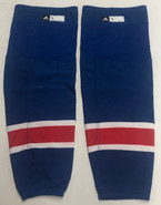 ADIDAS CUSTOM HOCKEY SOCKS NEW YORK RANGERS ROYAL BLUE PRO STOCK NHL LARGE