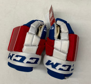 """CCM HG4RPP Pro Stock Custom Hockey Gloves 14"""" New York Rangers NHL"""
