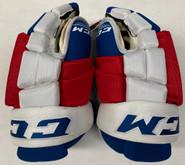 """CCM HG4RPP Pro Stock Custom Hockey Gloves 15"""" New York Rangers NHL 2"""