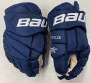 "Bauer Vapor 1X Lite Pro Custom Hockey Gloves 14"" Navy NHL Pro Stock Panthers Hawryluk"