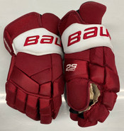 """Bauer Supreme 2s Pro Pro Stock Custom Hockey Gloves 15"""" Umass Amherst Used (2)"""