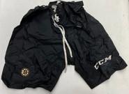 CCM MPP10 Custom Pro Stock Hockey Pant Shell Cover Black Large Bruins NHL Used