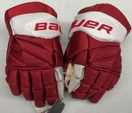 "Bauer Vapor 1X Lite Pro Stock Custom Hockey Gloves 14"" Umass Amherst New"