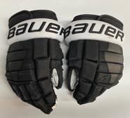 "Bauer Nexus 2N Pro Stock Custom Hockey Gloves 13"" PC NCAA Used #24"