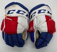 "CCM HGJS Jetspeed Custom Hockey Gloves 14"" NHL Pro Stock Wolfpack #7 Ronning"