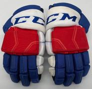 """CCM HGQL Custom Hockey Gloves 14"""" AHL Pro Stock Wolfpack #26 Gettinger"""