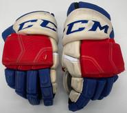 "CCM HGQL Custom Hockey Gloves 14"" AHL Pro Stock Wolfpack #14 Crawley"