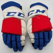 "CCM HGTKPP Custom Hockey Gloves 14"" AHL Pro Stock Wolfpack #78 Gossage"