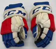 "CCM HGSTPP Custom Hockey Gloves 14"" AHL Pro Stock Wolfpack #65 O'Regan"