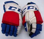 "CCM HGTKPP Custom Hockey Gloves 14"" NHL Pro Stock Wolfpack #8 AHL Used"