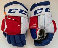 """CCM HGJS Jetspeed Custom Hockey Gloves 14"""" AHL Pro Stock Wolfpack #20 Used"""