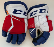 """CCM HGJS Jetspeed Custom Hockey Gloves 14"""" AHL Pro Stock Wolfpack #91 Used"""