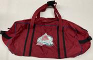 Colorado Avalanche Old School Pro Stock Hockey Bag Used #28
