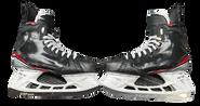 BAUER 2X PRO STOCK ICE HOCKEY SKATES 9 3/8 EEE NHL USED 2