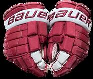 "Bauer Nexus 2N Pro Stock Custom Hockey Gloves 14"" Umass Amherst Used  (4)"