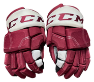 "CCM HGQL Pro Stock Custom Hockey Gloves 14"" Umass Amherst Used"