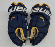 "Bauer APX2 Pro Stock Custom Hockey Gloves 14"" Quinnipiac Bobcats"