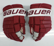 "Bauer Nexus 2N Pro Stock Custom Hockey Gloves 14"" Umass Amherst NCAA"