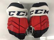 "CCM HGTKPP Pro Stock Custom Hockey Gloves 15"" Rochester Americans AHL"