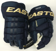 "Easton Pro Stock Custom Hockey Gloves 13"" Columbus Blue Jackets 3rd Horton NHL"