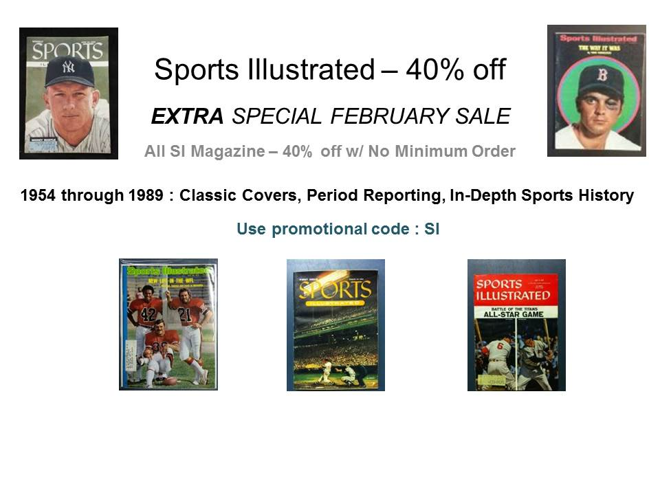 Sports Ullsutrated 40% off - use code SI