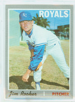 1970 Topps Baseball 222 Jim Rooker Kansas City Royals Near-Mint to Mint
