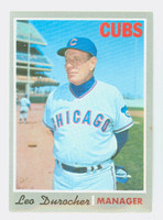 1970 Topps Baseball 291 Leo Durocher Chicago Cubs Near-Mint