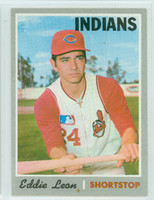 1970 Topps Baseball 292 Eddie Leon Cleveland Indians Near-Mint