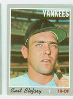 1970 Topps Baseball 297 Curt Blefary New York Yankees Near-Mint