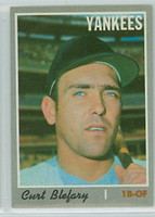 1970 Topps Baseball 297 Curt Blefary New York Yankees Near-Mint Plus