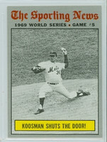 1970 Topps Baseball 309 World Series GM 5 Near-Mint to Mint