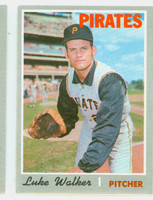 1970 Topps Baseball 322 Luke Walker Pittsburgh Pirates Near-Mint